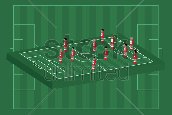 mexico team formation vector graphic