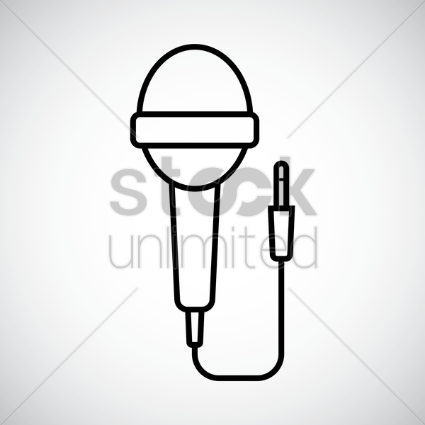 microphone vector graphic