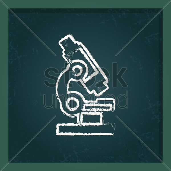 microscope vector graphic