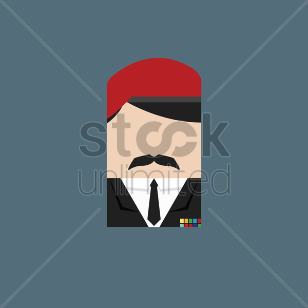 military officer vector graphic