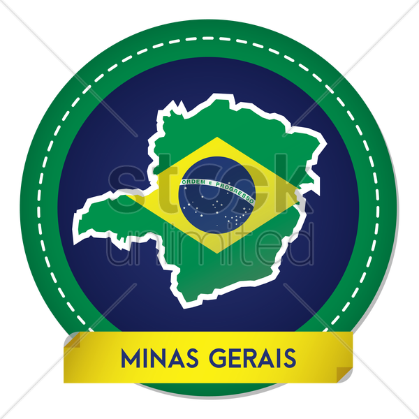 minas gerais map sticker vector graphic