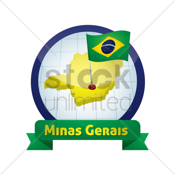 minas gerais map vector graphic