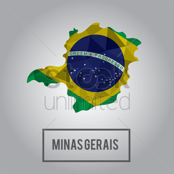 minas gerais state map vector graphic