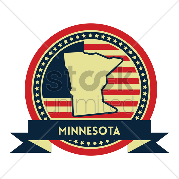 Free minnesota map label vector graphic