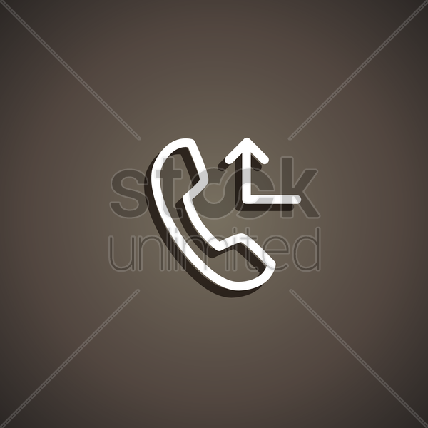 miscall icon vector graphic