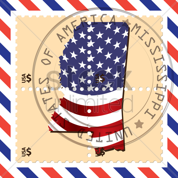 mississippi stamp vector graphic