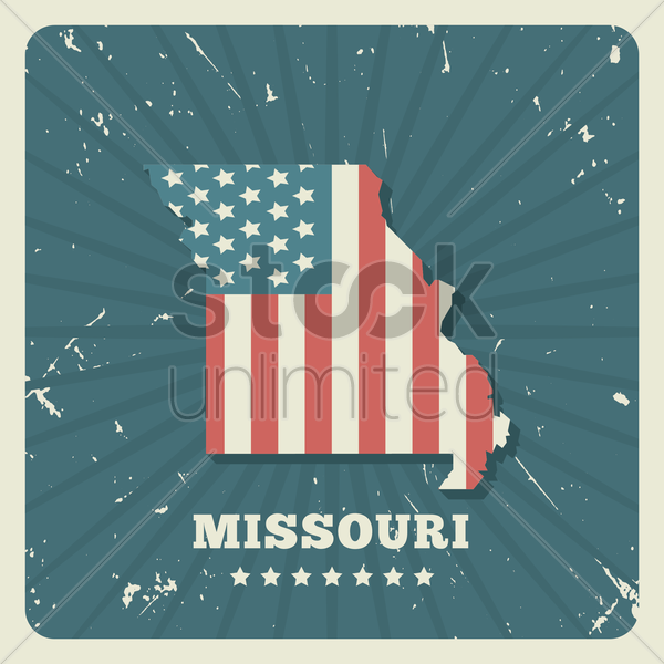 missouri map vector graphic