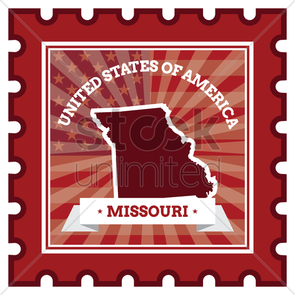 missouri postage stamp vector graphic