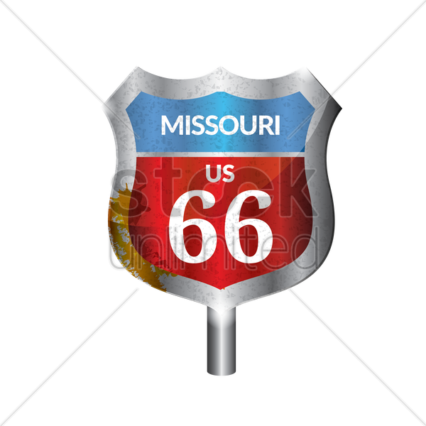 missouri route signboard vector graphic