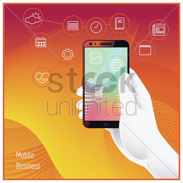 mobile business concept vector graphic