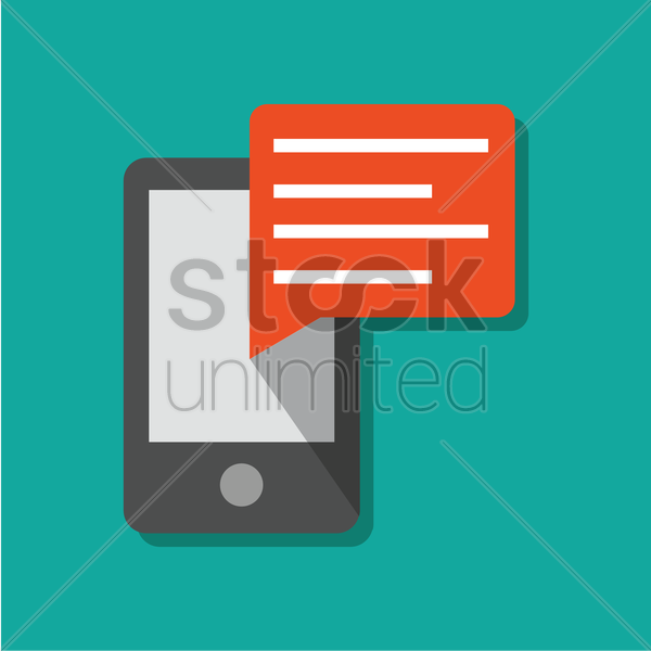 mobile chat vector graphic