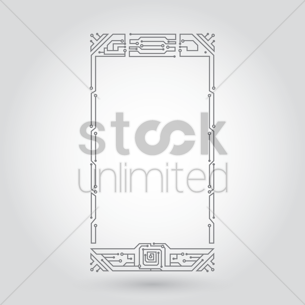 mobile design circuit vector graphic