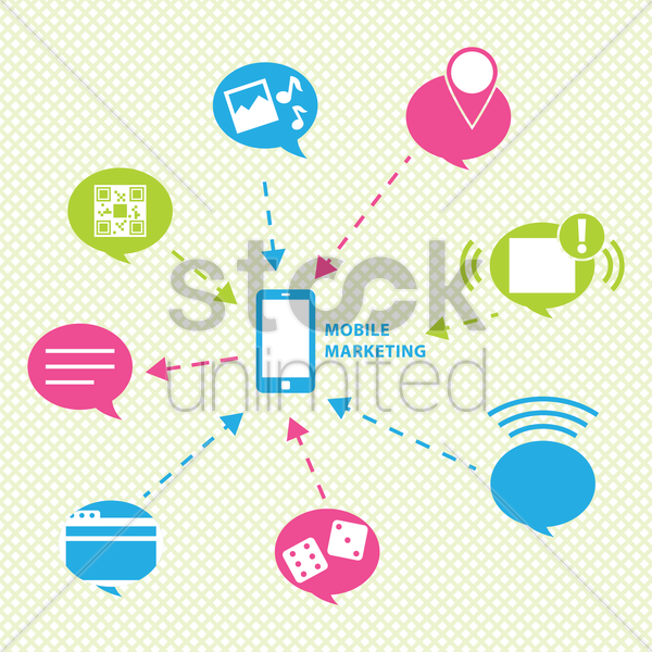 mobile marketing vector graphic