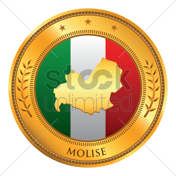 molise map vector graphic