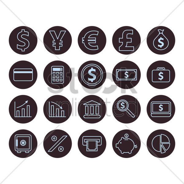 money icons vector graphic