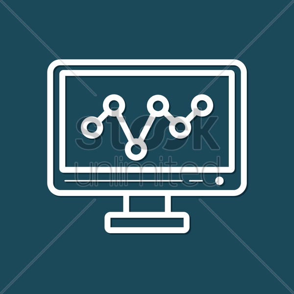 Free monitor with graph vector graphic