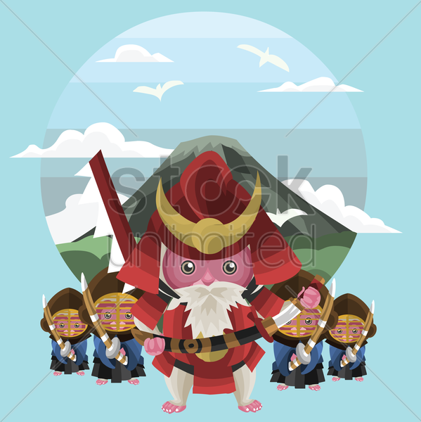 monkey pirates vector graphic