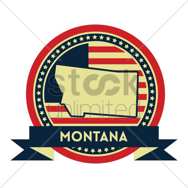 Free montana map label vector graphic