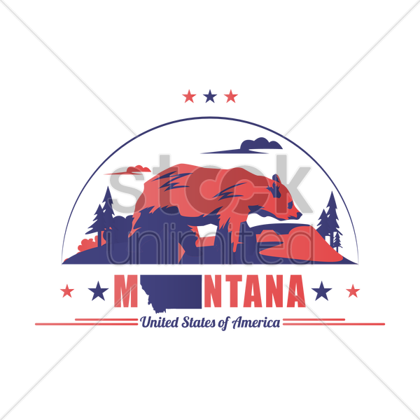 montana state vector graphic