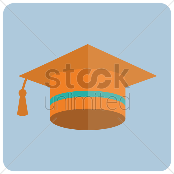 mortar board vector graphic