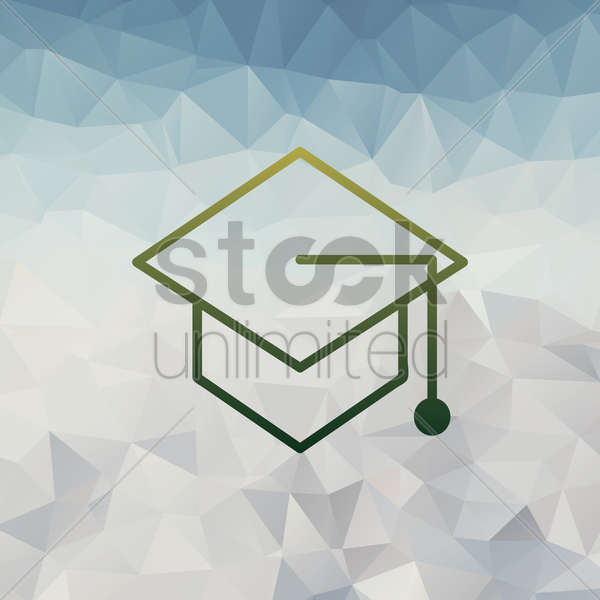 mortarboard vector graphic