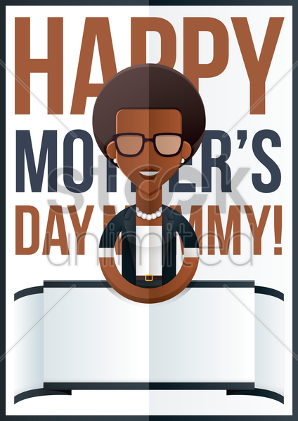 mothers day design with businesswoman vector graphic