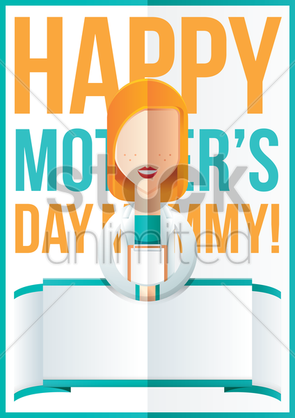mothers day design with doctor vector graphic