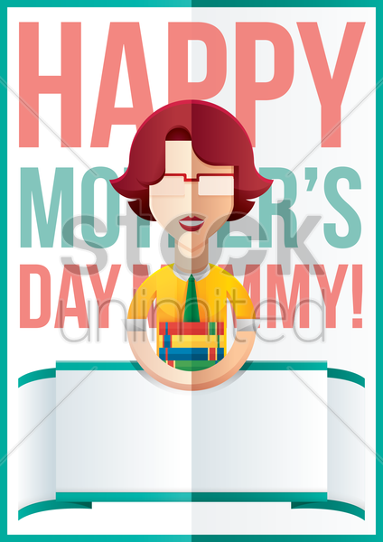 mothers day design with teacher vector graphic
