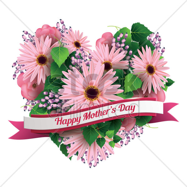 mothers day greeting vector graphic