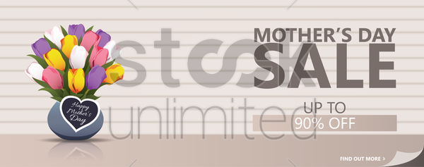 mothers day sale banner vector graphic