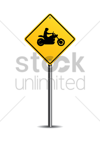 motorcycle crossing sign vector graphic