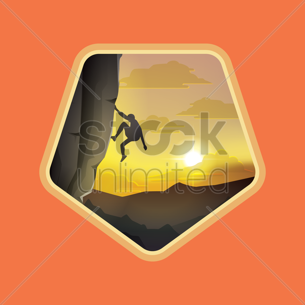 mountaineering vector graphic