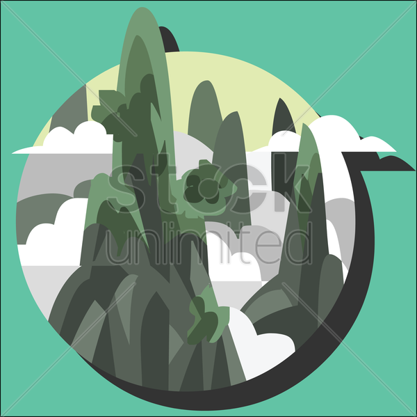 mountains vector graphic