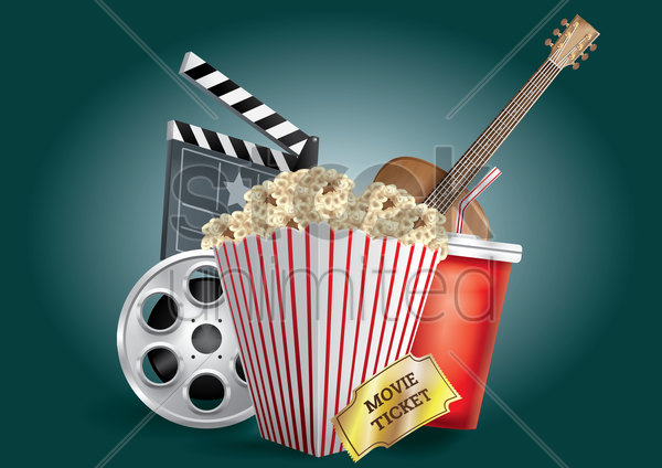 movie and entertainment design vector graphic