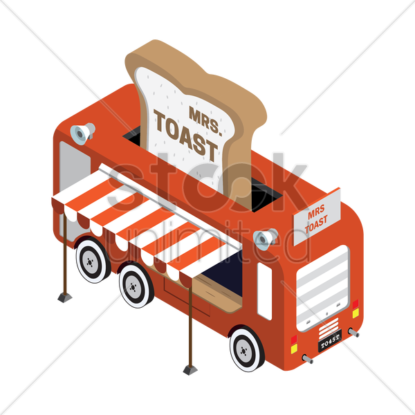 mrs.toast truck vector graphic
