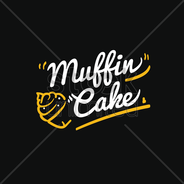 muffin cake vector graphic