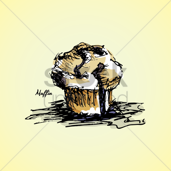 muffin vector graphic