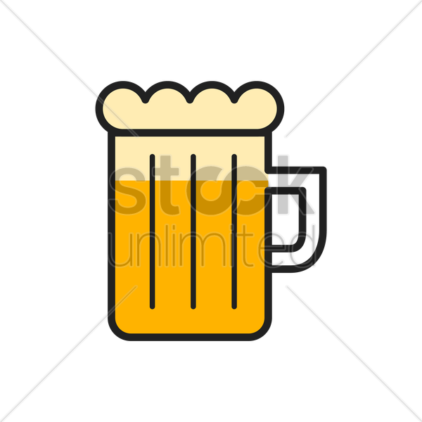 mug of beer vector graphic