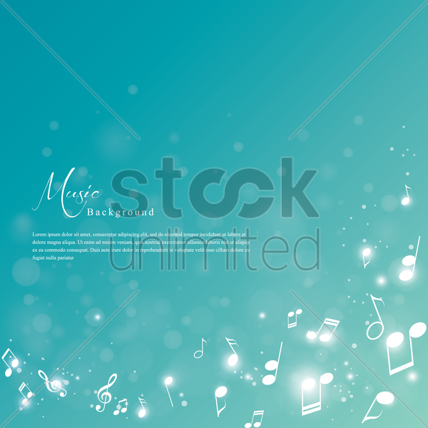 music background vector graphic