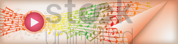 music banner vector graphic