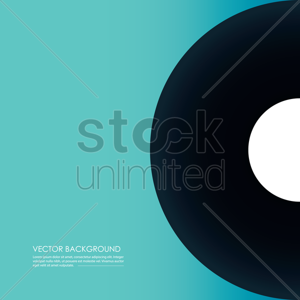music disc vector graphic