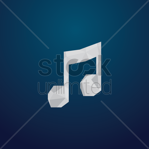 Free music icon vector graphic