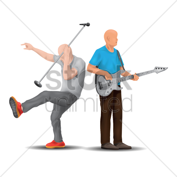 music performance on stage vector graphic