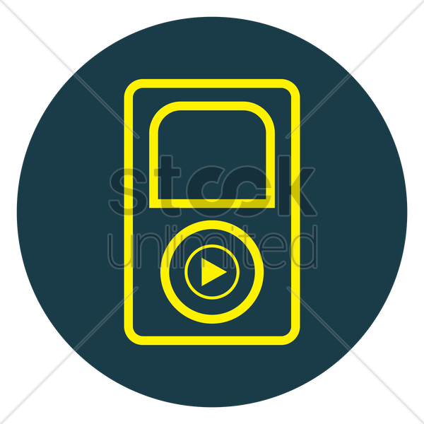 music player vector graphic