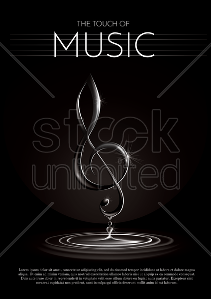 music poster vector graphic