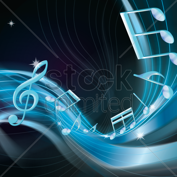 musical note vector graphic