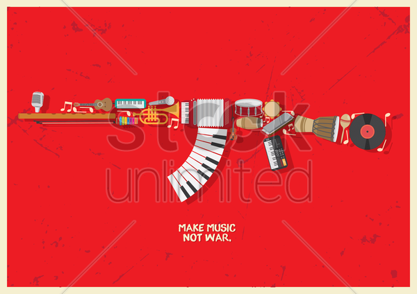 musical wallpaper vector graphic