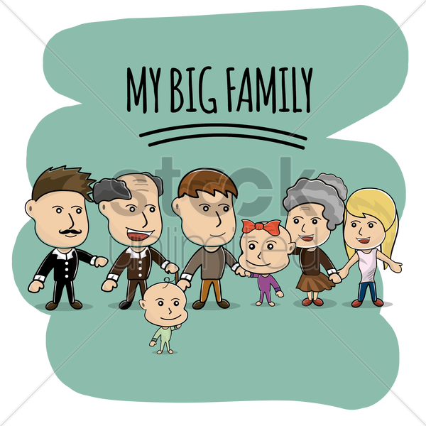 my big family vector graphic