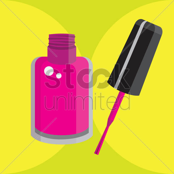 nail polish vector graphic