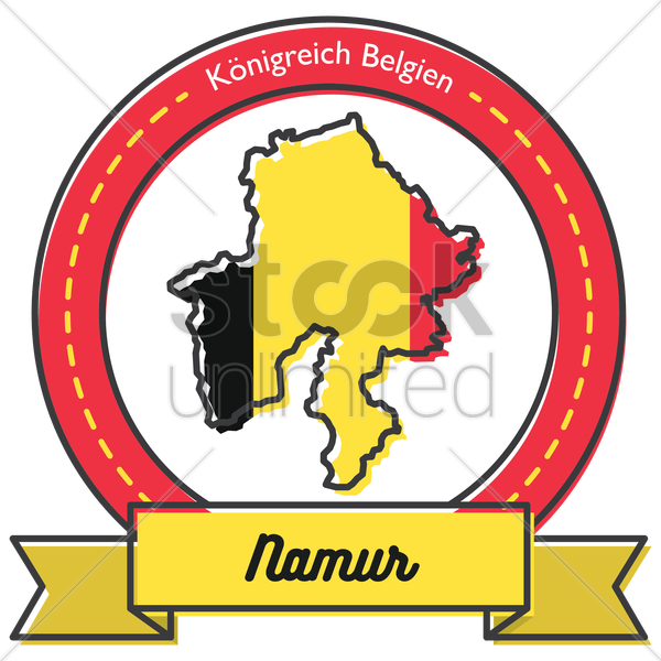 namur map label vector graphic